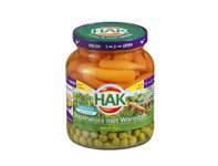 Hak Extra fijne doperwtjes en worteltjes 370 ml